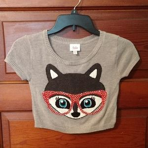 Justice Bling Fox Sweater
